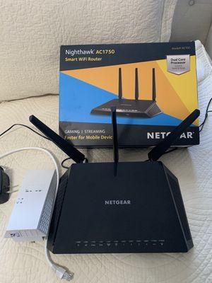 Netgear Nighthawk AC1750 Smart Wifi Router & Mesh AC1750 WiFi Extender for Sale in Davie, FL