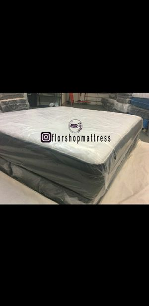 MATTRESS BED PILLOW TOP WITH BOX SPRING SET FREE 🐇🎯 QUEEN SIZE KING SIZE FULL SIZE for Sale in Homestead, FL