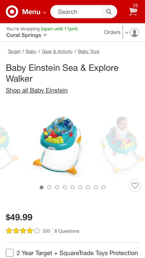 b36e0f53df20 Baby Einstein sea and explore musical walker for Sale in Pompano ...