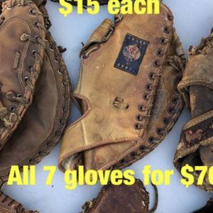 Baseball Gloves Vintage Collectible Equipment Bats for Sale in Los Angeles, CA