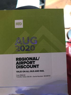 Bus pass for August 2020 need gone ASAP for Sale in Aurora, CO
