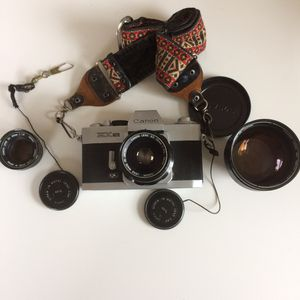 Canon Film camera EX with 35 mm and 125mm and 50mm lenses for Sale in Pittsburgh, PA