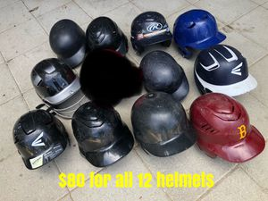 Baseball helmets Easton Rawlings equipment gloves bats for Sale in Culver City, CA