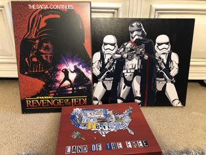 FREE Star Wars canvas artwork for Sale in Cornelius, OR