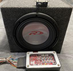 Alpine Subwoofer and re-q5 smart volume sensing bass restoration TRADE? for Sale in San Francisco,  CA