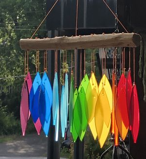 Chakra Rainbow Large Stained Glass Leaves Wind Chime for Sale in Nashville, TN