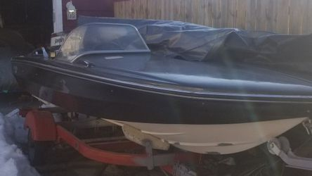1969 Glastron 14ft Boat W/ 85 HP Johnson Outboard With Tilt And Trim And Trailer for Sale in Lockport,  IL