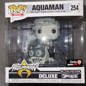 Aquaman (Black & White) Jim Lee DC Collection Funko Pop Heroes Deluxe 254 for Sale in Hawthorne, CA