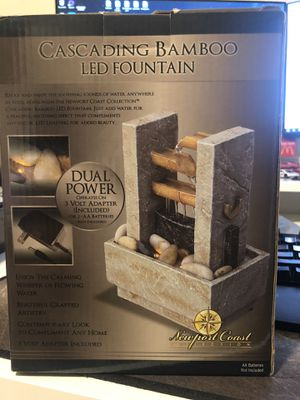 Cascading Bamboo LED Fountain Adapter for Sale in Chandler, AZ