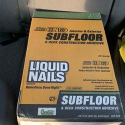 Liquid Nails Subfloor Case for Sale in Everett,  WA