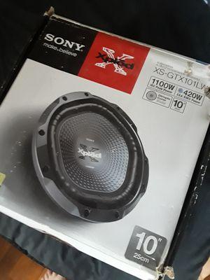 Sony Xplod 1100 Watt Subwoofer for Sale in Corpus Christi, TX