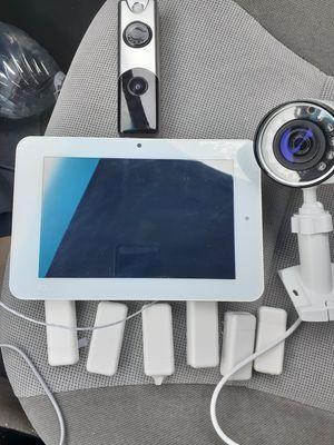 HD outdoor video camera, Video doorbell, iq2 control panel (smart home system) 5 door/window sensors for Sale in Portland, OR