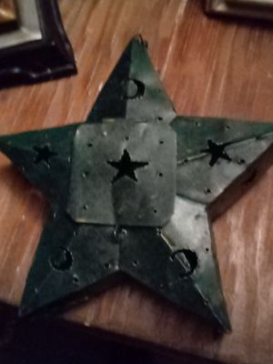 Turquoise metal star candle holder for Sale in Phoenix, AZ