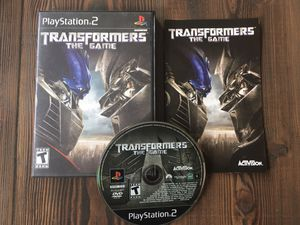 Transformers: The Game for Sony PlayStation 2 PS2 for Sale in Brentwood, CA