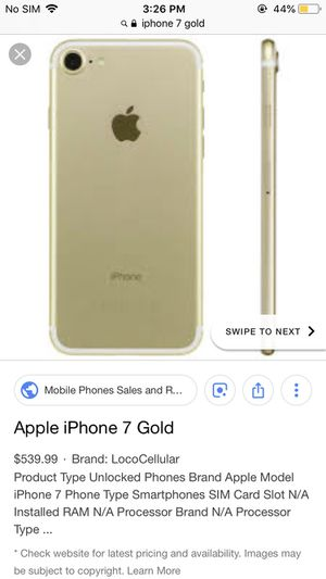 iPhone 7 gold for Sale in Phoenix, AZ