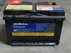 AC Delco 42 Professional Car Battery PERFECT CONDITION Battery in perfect condition- selling only because it was a mistake and the wrong battery for for Sale in Fresno, CA