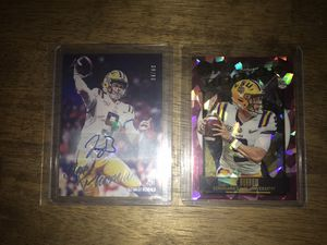 Joe Burrow Rookie Card LOT! Legacy Pink Cracked Ice /10, Luminance Auto /99!!! for Sale in Frackville, PA