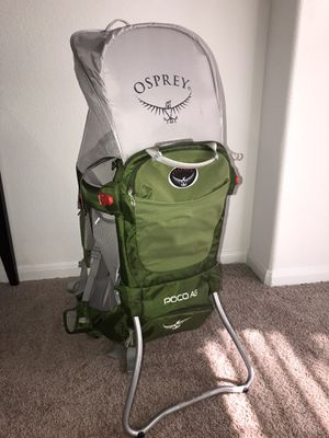 Osprey Poco AG Child Carrier/Backpack for Sale in Houston, TX