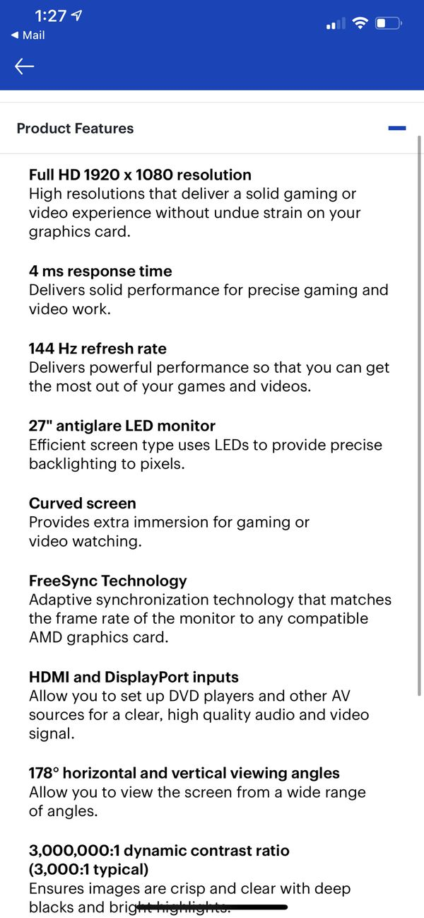 Lenovo Curved Monitor