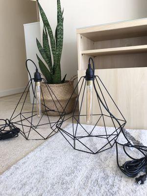 Ikea pendant lamps and Edison style light bulbs for Sale in Alexandria, VA