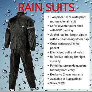 Motorcycle Rain Suit (2 pieces). Waterproof and Windproof, made for highway speeds. for Sale in San Diego, CA