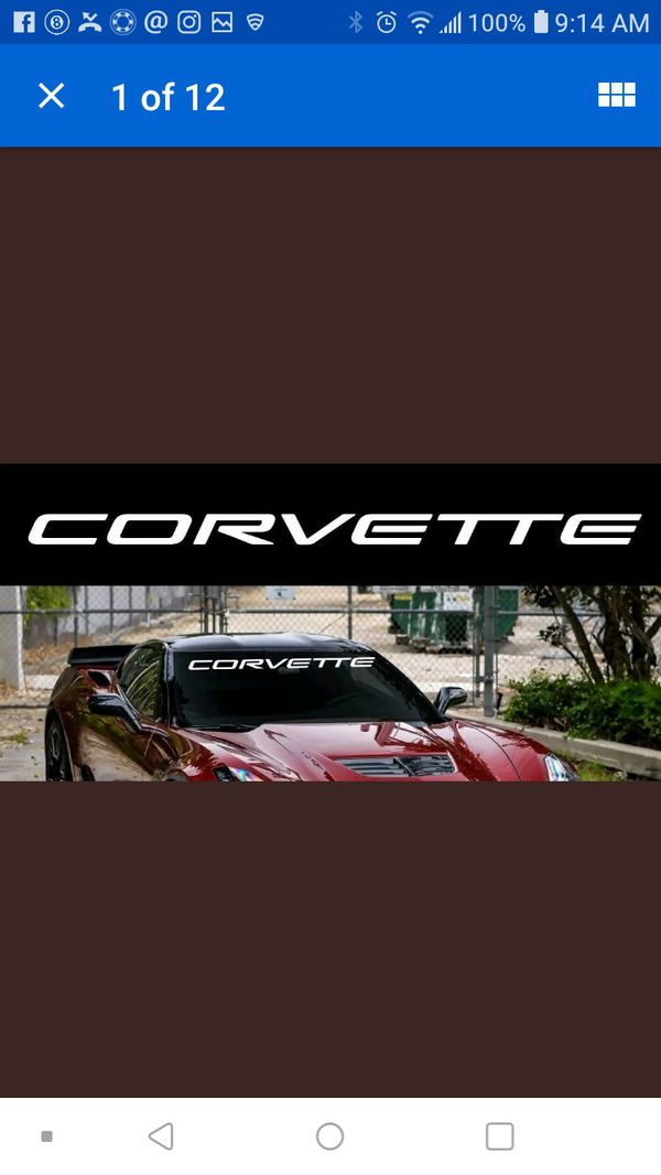 Chevy corvette windshield banner decal
