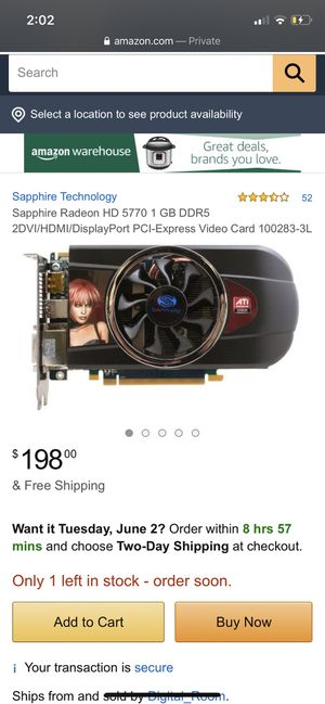 Graphics card for gaming pc for Sale in Corona, CA
