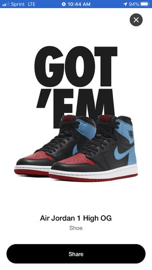 Jordan 1 Retro High Nc To Chi (W) for Sale in Fort Lauderdale, FL