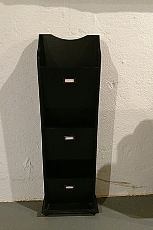 Black standing or hanging magazine/letter rack for Sale in Northville, MI