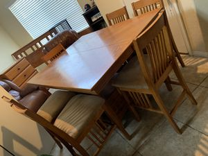 Table with six chairs for Sale in North Las Vegas, NV