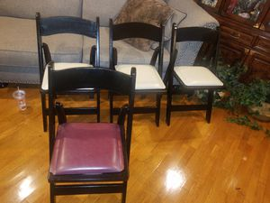 Selling Foldable Wooden Chairs Mix Color for Sale in Queens, NY