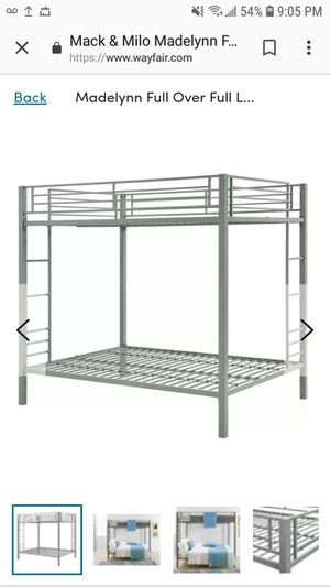 Madelyn full over full bunk bed for Sale in West Palm Beach, FL