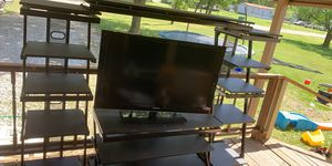 Black Tv Stand with two towers for Sale in Burleson, TX