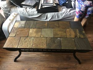 Metal and stone coffee and end table for Sale in Santa Maria, CA