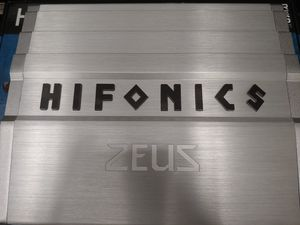Car amplifier : HIFONICS 1200 watts monoblock 1 ohm stable built in crossover 60 ×1 fuse & bass control ( brand new ) for Sale in Huntington Park, CA