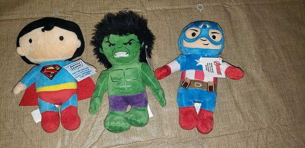 Lot of 3 Super Hero plush toys NEW