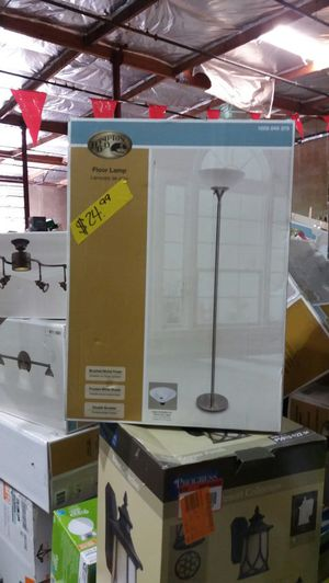 Hampton Bay 71 inch satin steel floor lamp for Sale in Phoenix, AZ