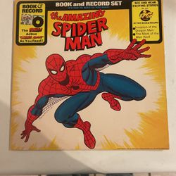 The Amazing Spider-Man Spider Man Book On LP Record Vintage 1977 for Sale in Ocala,  FL