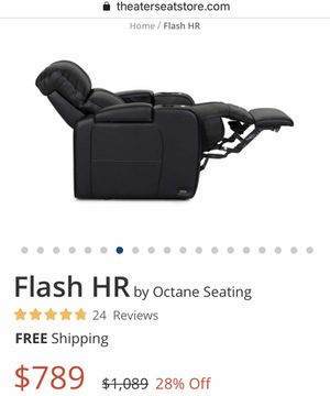 New - 2x premium leather reclining theater chairs for Sale in Oakland, CA