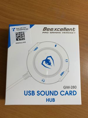 Beexcellent Pro gaming headset USB sound card for Sale in San Gabriel, CA
