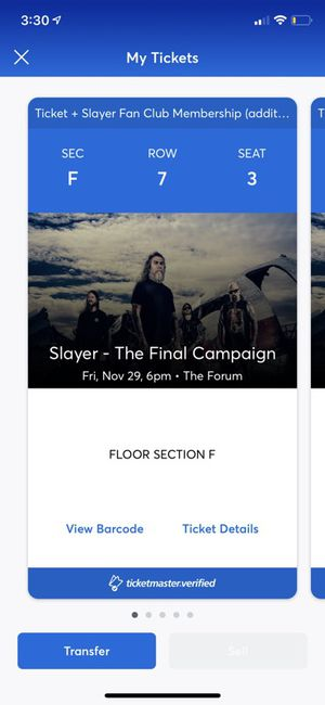 Slayer tickets 10/29 for Sale in Anaheim, CA