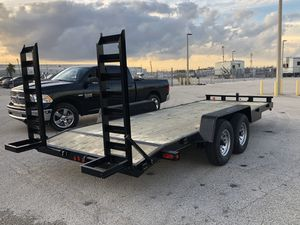 2020 equipment trailer ,20' trailer , bobcat trailer, excavator , bobcat , forklift , equipment trailer, trailer, 7000 axels for Sale in Hialeah, FL