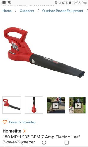 150 MPH 233 CFM 7 Amp Electric Leaf Blower for Sale in National City, CA