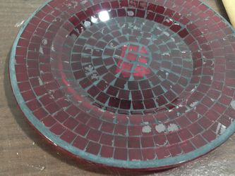 Mosaic Red Glass Plates for Sale in Seattle,  WA