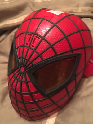 Spider man mask with light $35 for Sale in Mesquite, TX