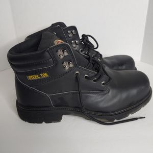 Braum mens work boots Steel toe Leather uppers Size 13 Black Lace up Used in good condition soles are in good shape for Sale in Phoenix, AZ