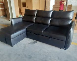 Laguna Black RAF Sleeper Sectional with Storage for Sale in Round Rock,  TX