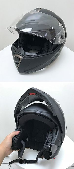 Brand New $45 Full Face Motorcycle Bike Helmet Flip up Dual Visor (M, L, XL) DOT Approved for Sale in Downey, CA