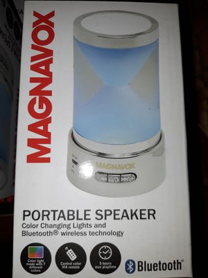 New magnavox portable bluetooth color changing speaker for Sale in Portland, OR