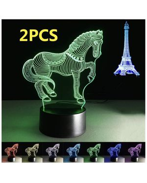 ChiMoon Amazing Horse Lamp 3D Lamps for Girls Paris Lamp Effiel Tower Home Decor Art Night Light Horse Decorations Lamps for Living Room Decor Kids B for Sale in Boston, MA